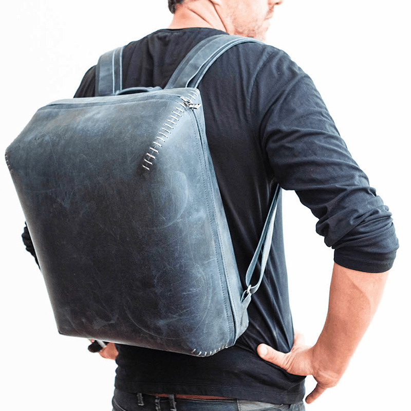Backpack. Leather, made in germany, handcraft by Haeute from Füssen bavaria, worth working, simple elegance, high quality, worthful, precious, man, male, leatherbackpack, leather backpack, Backpack for man, handstitched, Bokka, Business Backpack