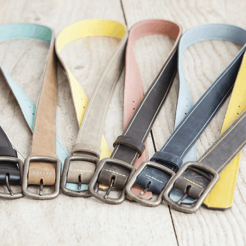 haeute leather belt women, made in germany füssen bavaria, klatt haas, Belt, real leather, buckle, leather belt, women, handcraft, genuine leather, reversible, can be used on two sides, Jeans